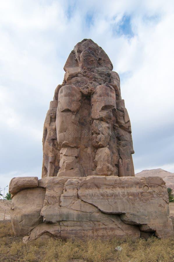 Collosi di Memnon - Luxor, Egitto fotografia stock libera da diritti