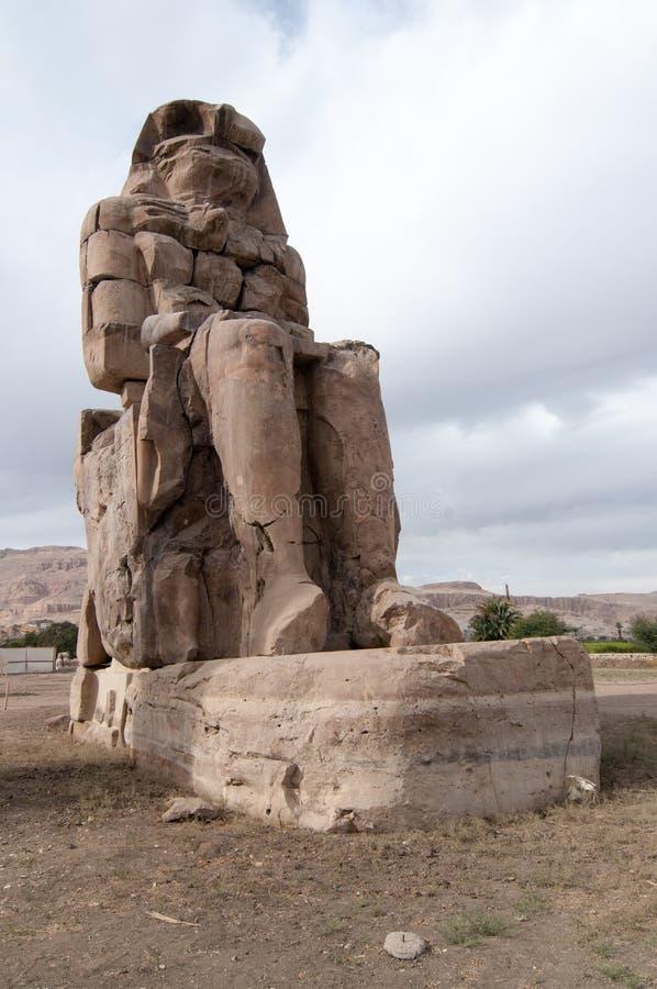 Collosi di Memnon - Luxor, Egitto fotografie stock