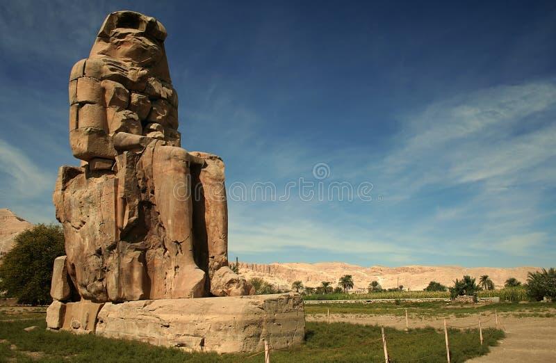 Collosus di Memnon fotografie stock
