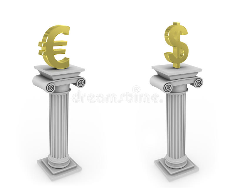 collumn σημάδι νομίσματος ελεύθερη απεικόνιση δικαιώματος