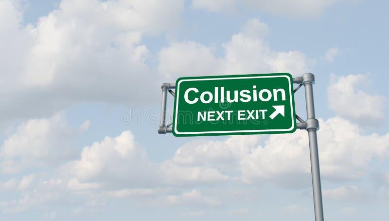 Collusion Political symbol stock illustration