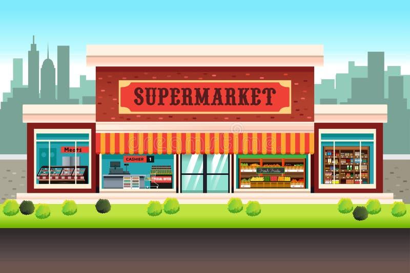 Colmado del supermercado ilustración del vector
