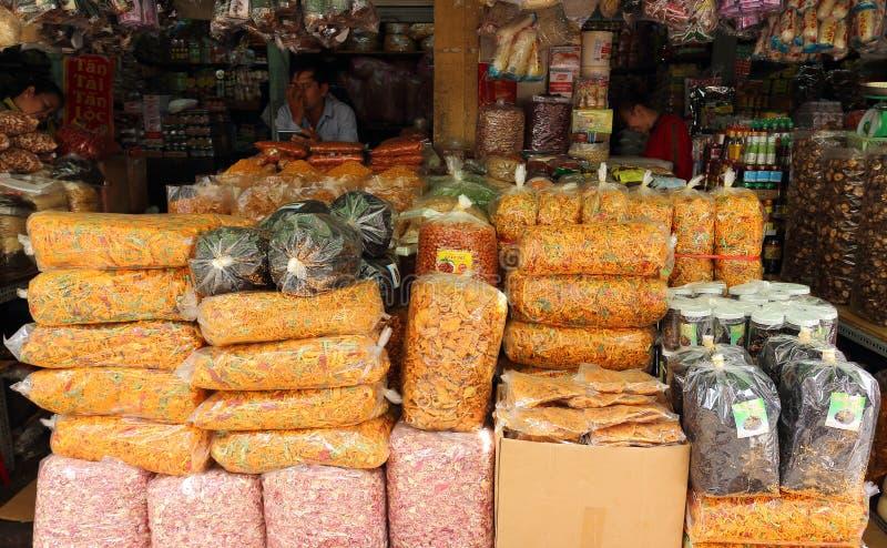 Colmado en el mercado asiático foto de archivo libre de regalías