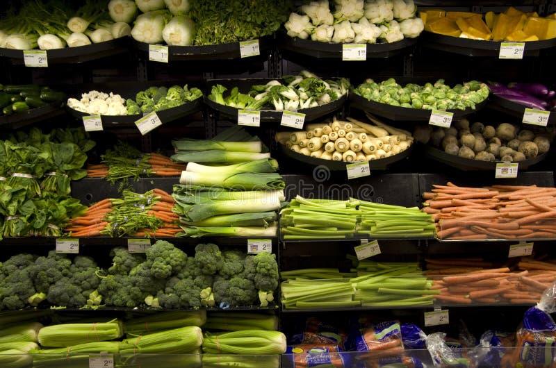 Colmado sano de las verduras fotos de archivo