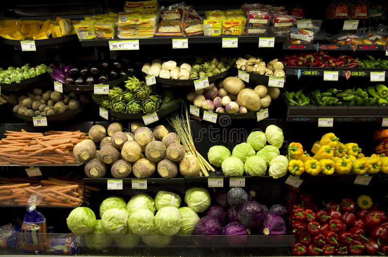 Colmado sano de las verduras imágenes de archivo libres de regalías
