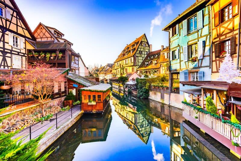 Colmar, Alsácia, França - pouca Veneza foto de stock royalty free