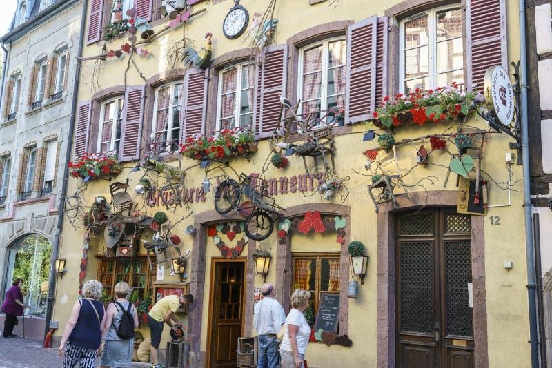 Colmar, Alsace, Francja - dom obrazy stock