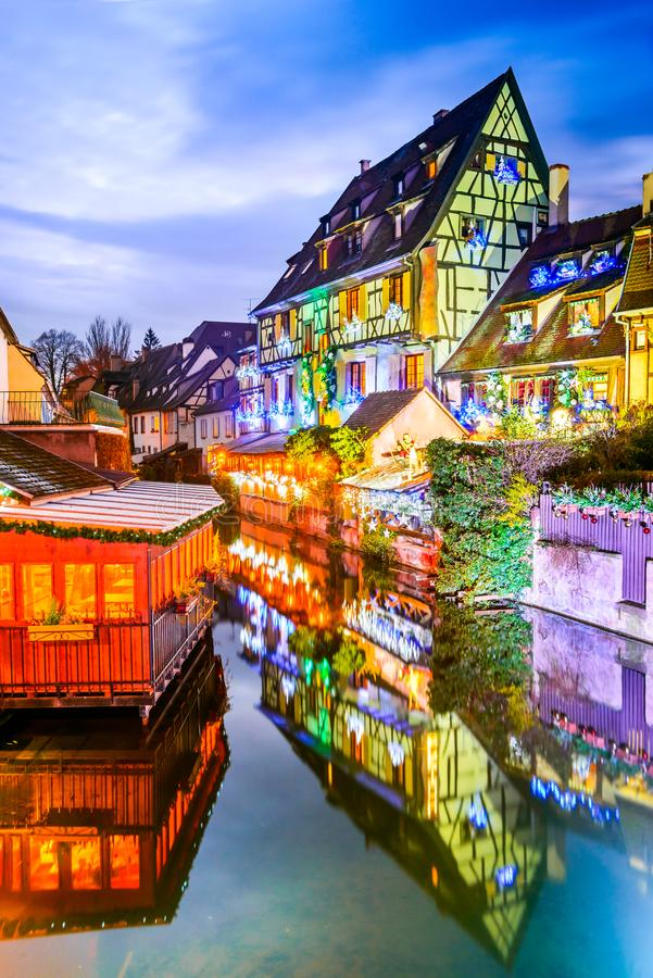 Colmar, Alsace, Francja - Mały Wenecja zdjęcie stock