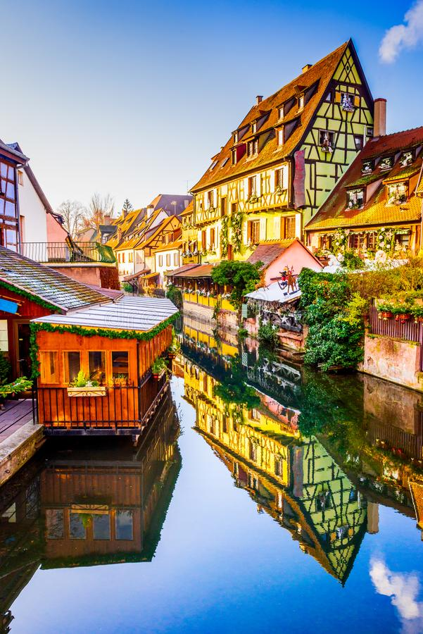 Colmar, Alsace, Francja - Mały Wenecja obraz stock
