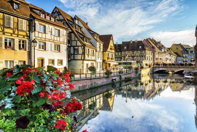 Colmar, de Elzas, Frankrijk stock afbeelding