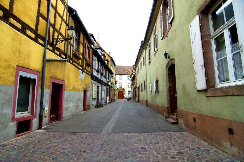 colmar färgrikt hus arkivbild