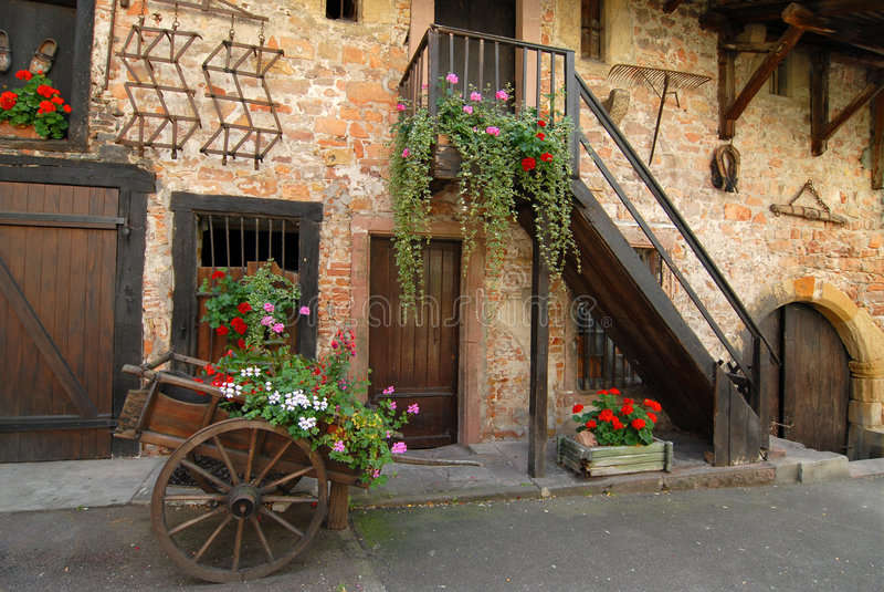 colmar farma France zdjęcia royalty free