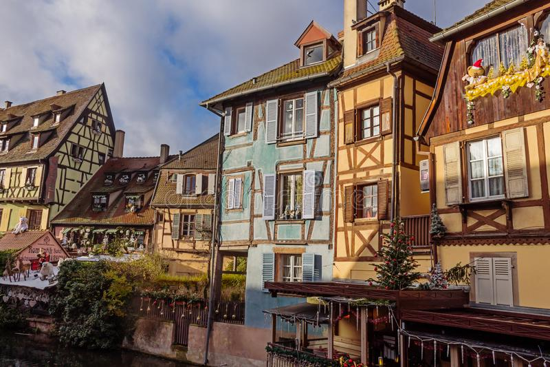 Traditional buildings of Colmar royalty free stock photo