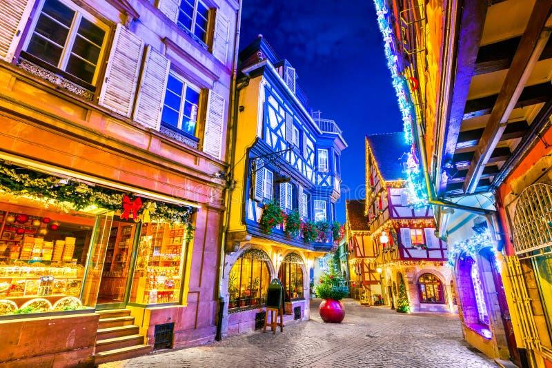 Colmar - julstad i Alsace, Frankrike royaltyfria bilder