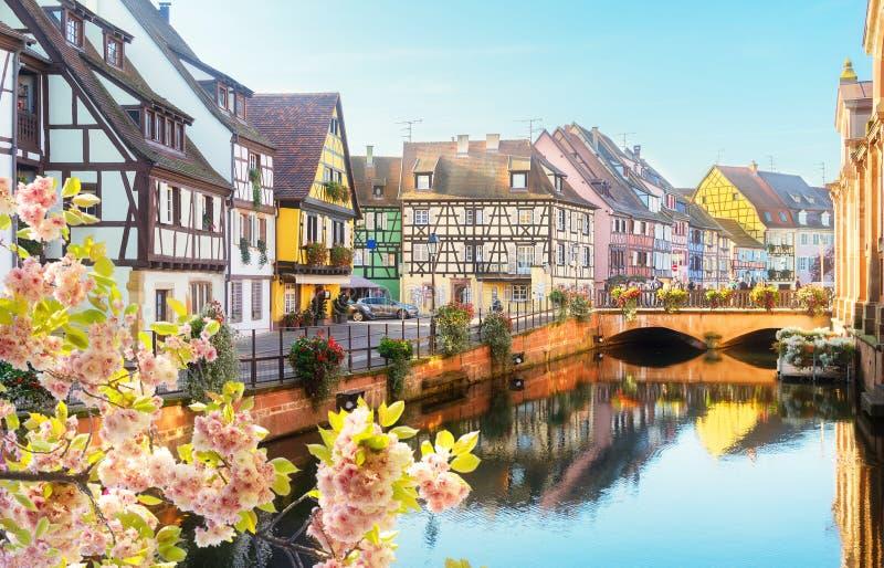 Colmar, piękny miasteczko Alsace, Francja obrazy royalty free