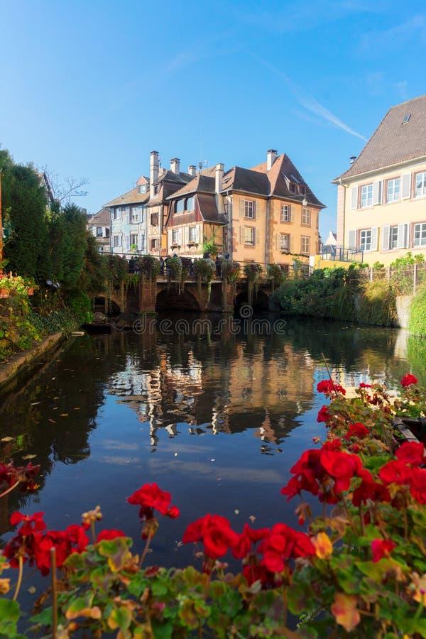 Colmar, piękny miasteczko Alsace, Francja zdjęcie stock