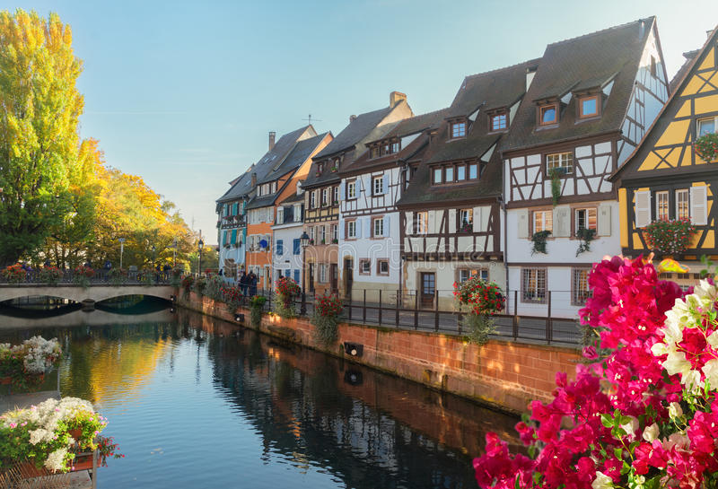 Colmar, piękny miasteczko Alsace, Francja fotografia royalty free
