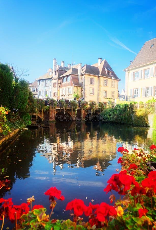 Colmar, piękny miasteczko Alsace, Francja obraz royalty free