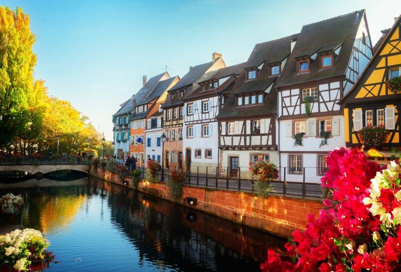 Colmar, piękny miasteczko Alsace, Francja fotografia stock