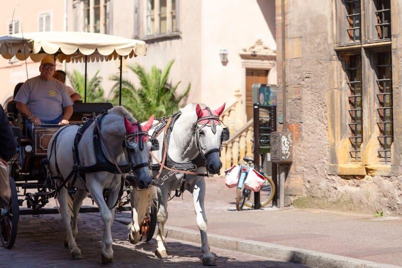 Colmar stary miasteczko, tryb transport obrazy royalty free