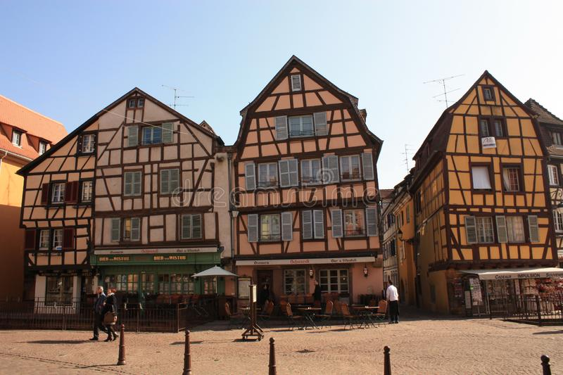 Colmar Stary miasteczko w Alsace Francja zdjęcie royalty free