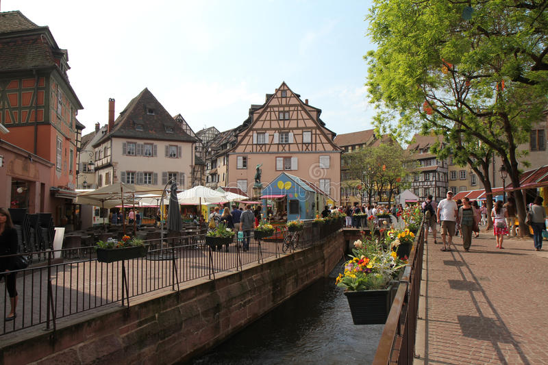 Download Colmar Village At Easter Editorial Photography - Image: 23370747