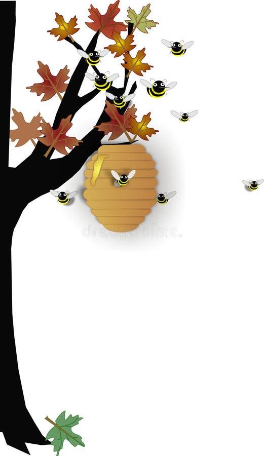 Colmeia no outono ilustração royalty free