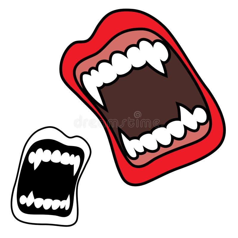 Colmilhos do vampiro ilustração do vetor