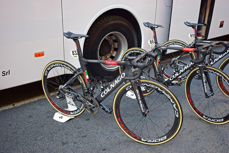 Colnago Team Racing Bikes stock photos