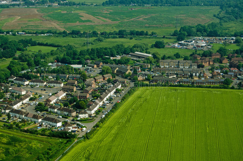 Download Colnbrook Village, Aerial View Stock Photo - Image: 83723866