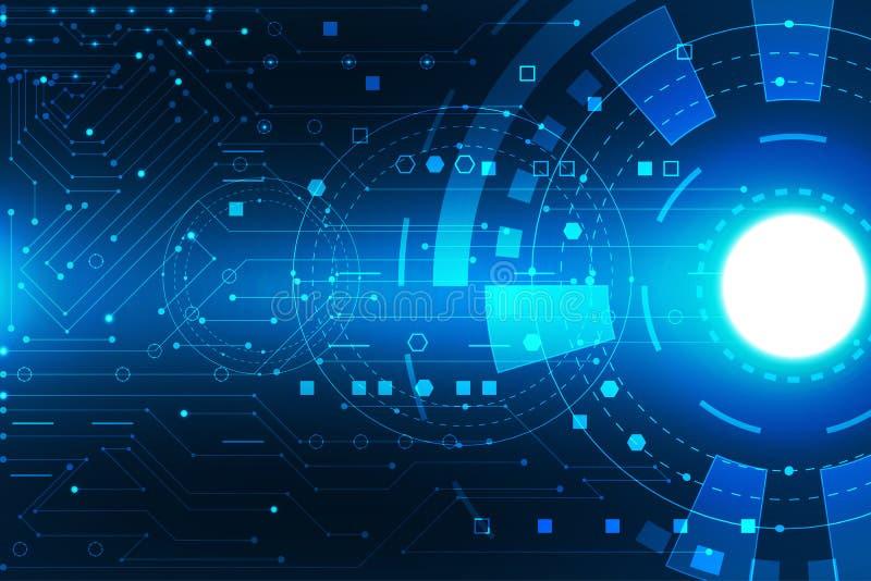 Colo bleu-foncé numérique abstrait de carte de concept de technologie illustration libre de droits