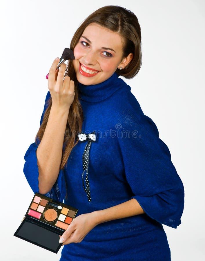 Download A Colocação Adolescente Da Menina Compo Foto de Stock - Imagem de divertimento, estúdio: 12811366