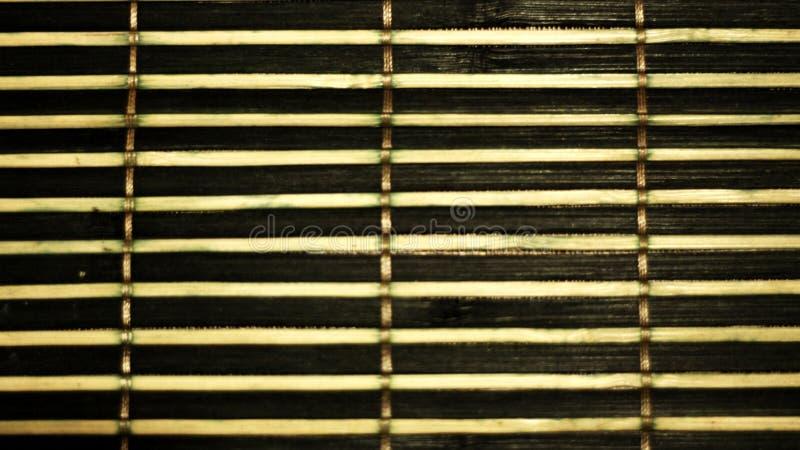 Colocação de bambu em um arranjo horizontal fotografia de stock royalty free