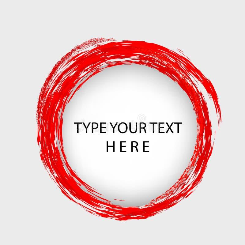 Colocação do molde do vetor de Infographic, furo do círculo com beira vermelha do pastel ilustração do vetor