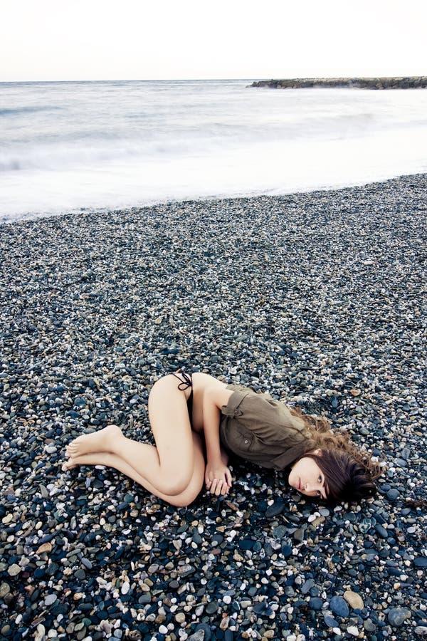 Colocação na praia fotografia de stock royalty free