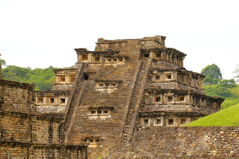 Coloca o tajin III da pirâmide imagem de stock