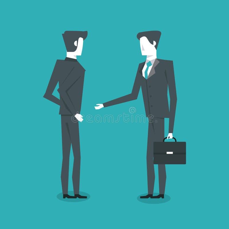 Colocación de dos hombres de negocios ilustración del vector