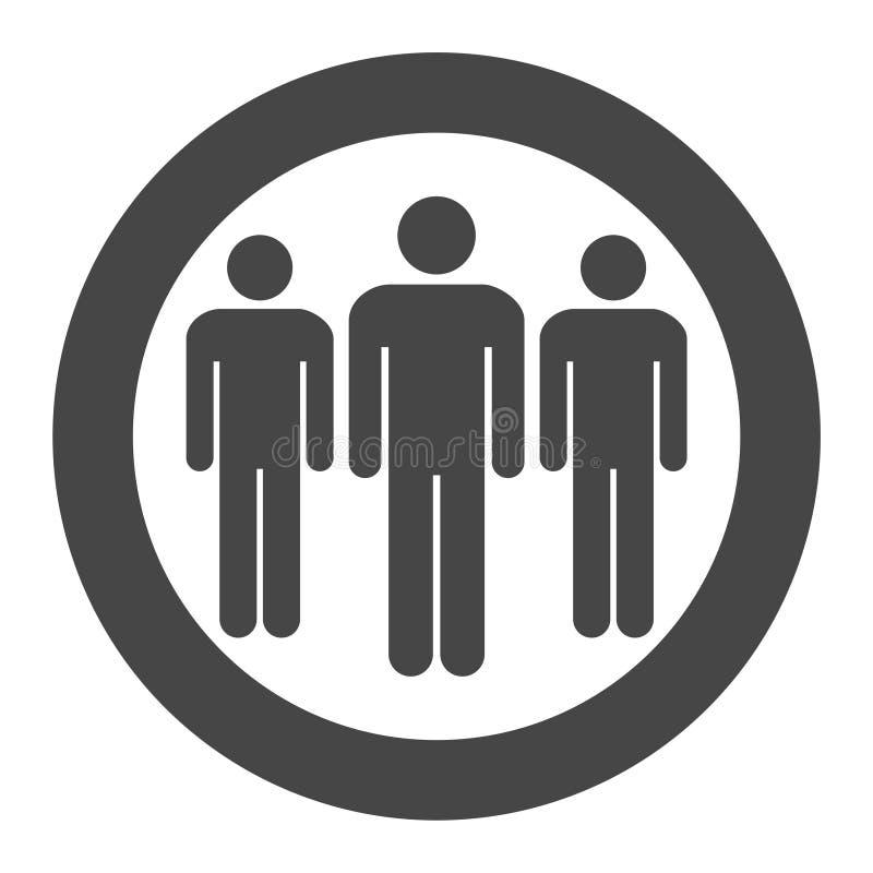 Colocación de la gente ilustración del vector