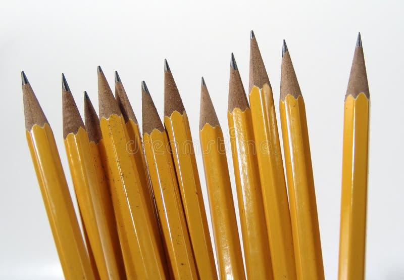 Colocación de los lápices imágenes de archivo libres de regalías