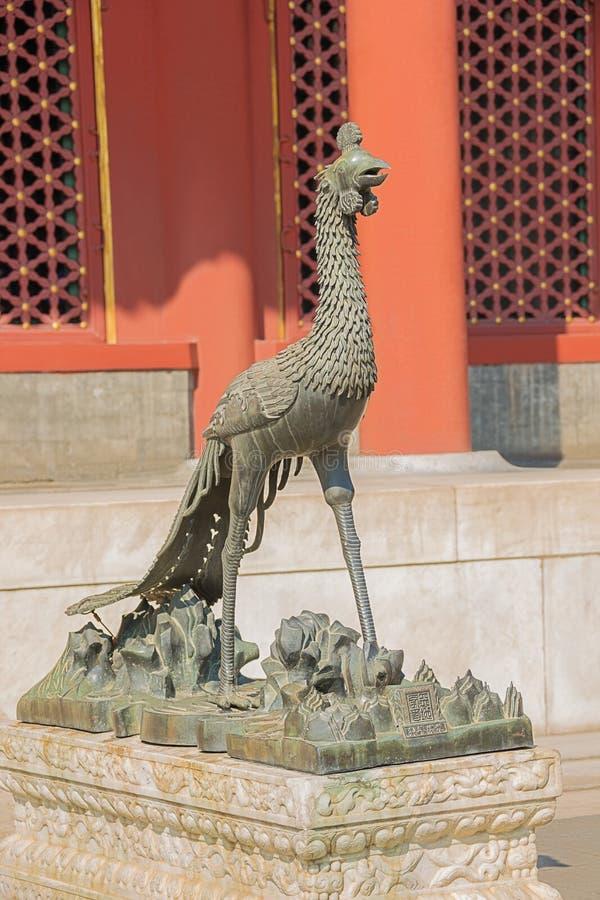 Colocación delante de una Phoenix en el palacio de verano fotografía de archivo