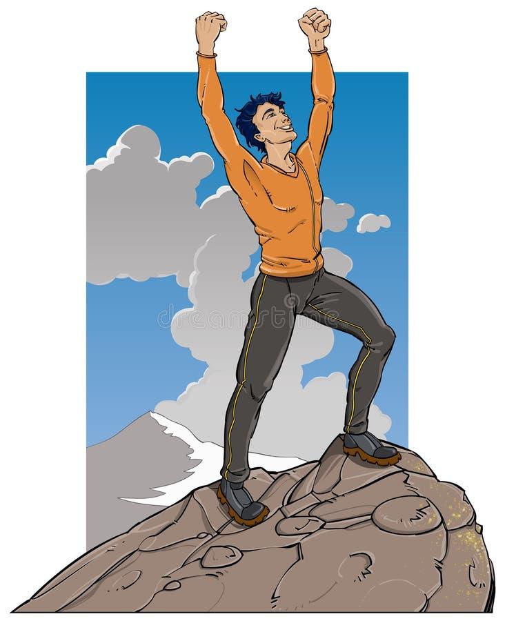 Colocación en tapa de la montaña libre illustration