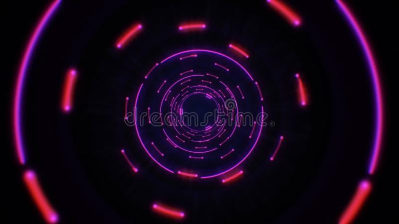 Colocación inconsútil del rosa y de los círculos ligeros abstractos púrpuras ilustración del vector
