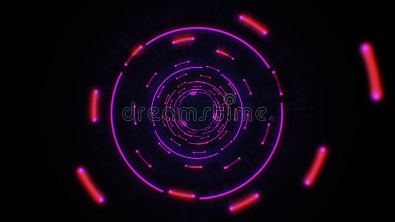 Colocación inconsútil del rosa y de los círculos ligeros abstractos púrpuras stock de ilustración