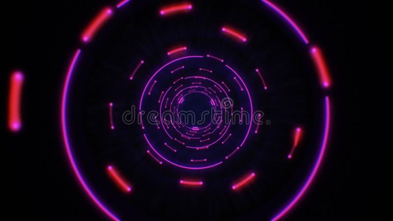 Colocación inconsútil del rosa y de los círculos ligeros abstractos púrpuras libre illustration