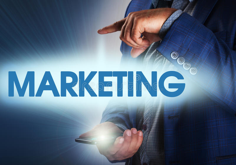 Colocación y estrategia de marketing de comercialización - segmentación, alquitrán fotografía de archivo