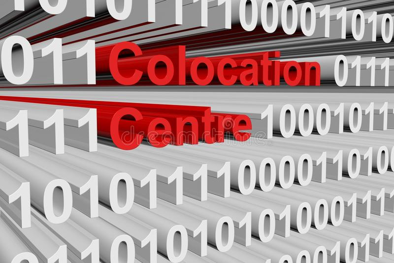 Colocation centre. In the form of binary code, 3D illustration vector illustration
