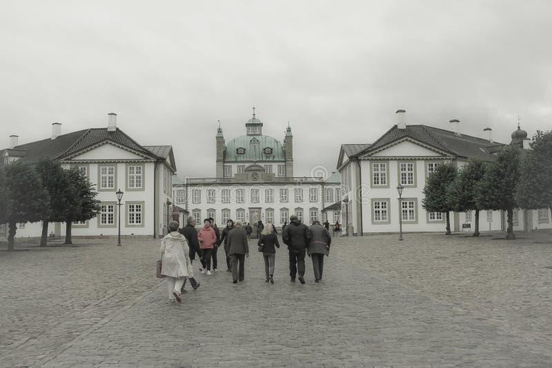 Coloful房子在哥本哈根,丹麦 库存图片