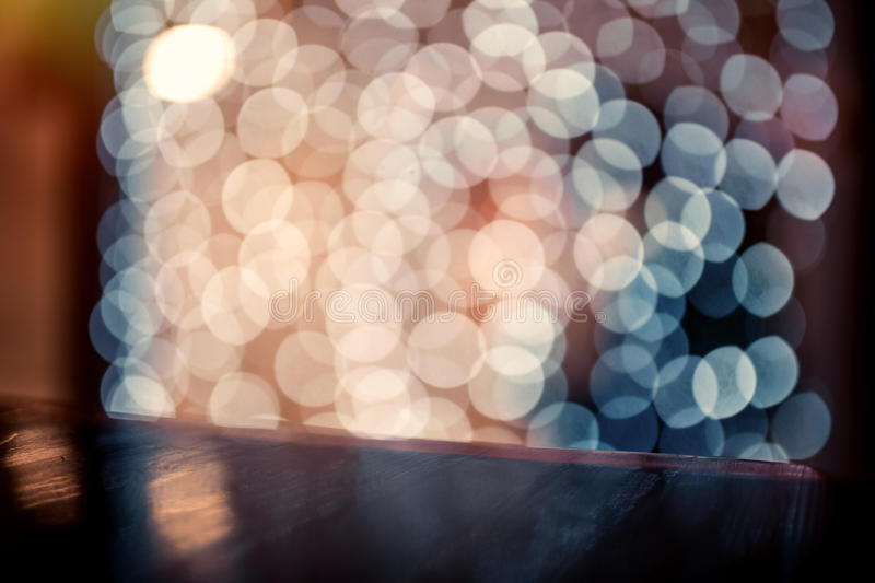 Coloful circle bokeh background. Defocused image. Blurred photo illustration. Copy space for design and text stock images