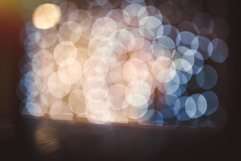 Coloful circle bokeh background. Defocused image. Blurred photo illustration. Copy space for design and text royalty free stock photo