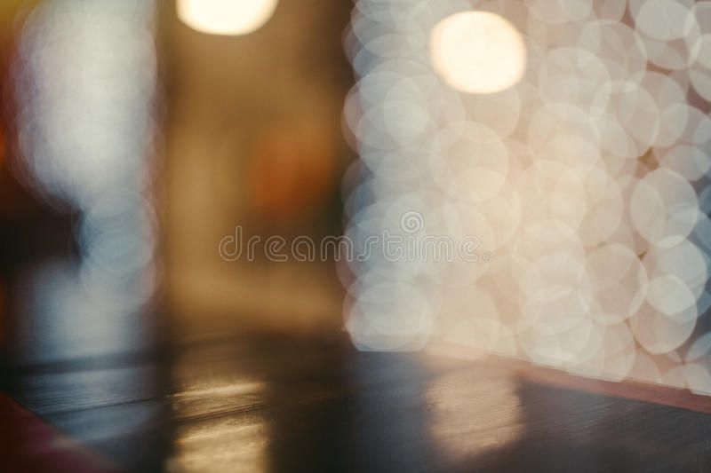 Coloful circle bokeh background. Defocused image. Blurred photo illustration. Copy space for design and text stock image